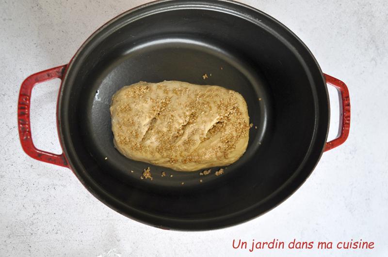 pain cocotte graines de sésame