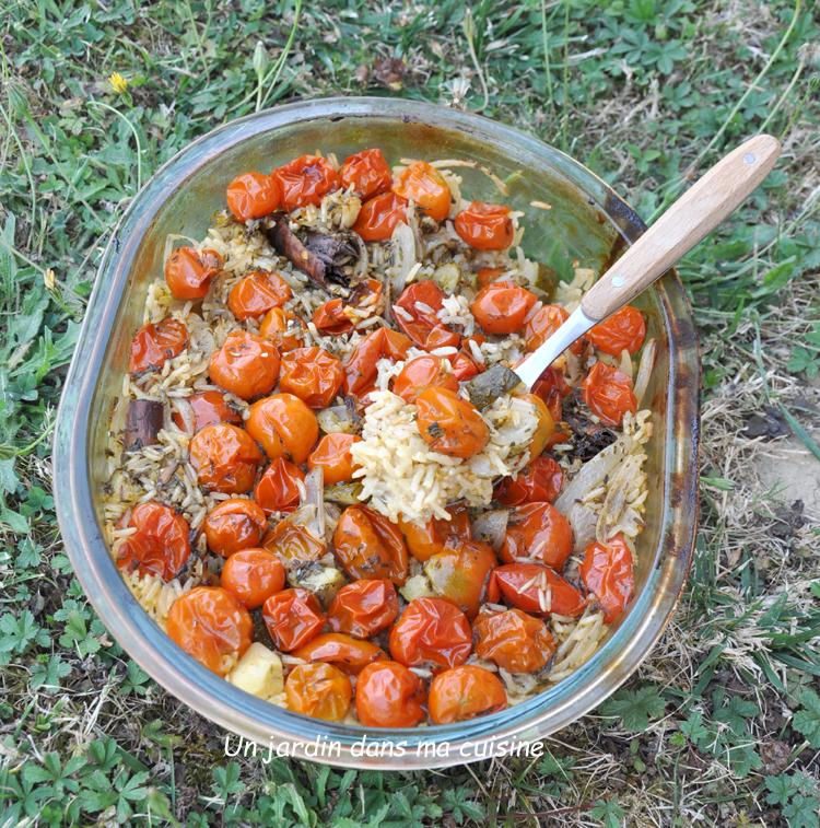 riz au four ail tomates confitues
