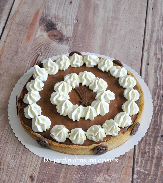tarte festive aux deux chocolats