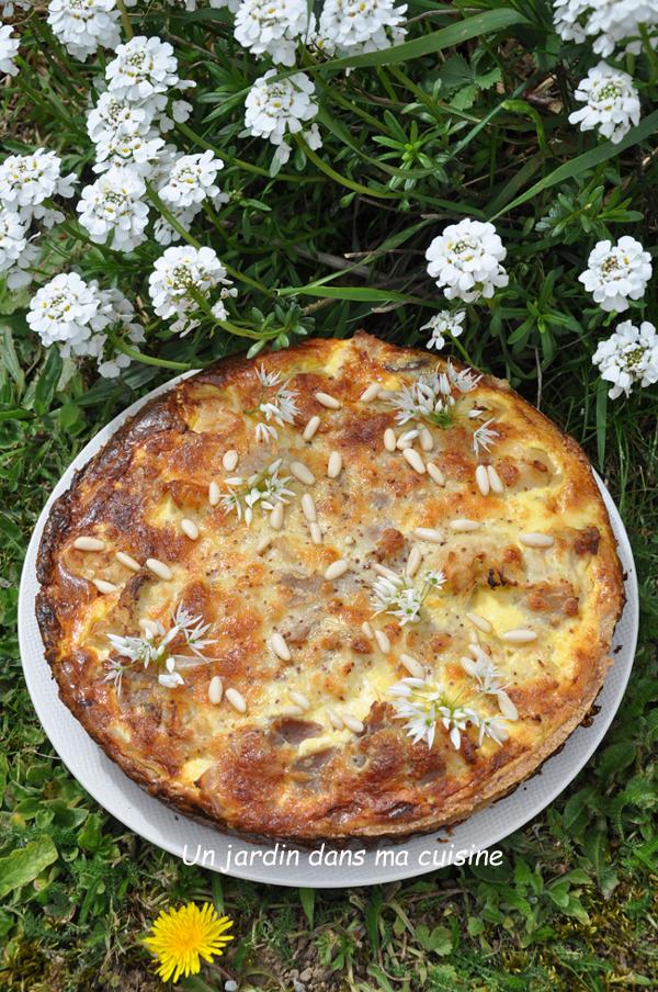 tarte chou -fleur moutarde