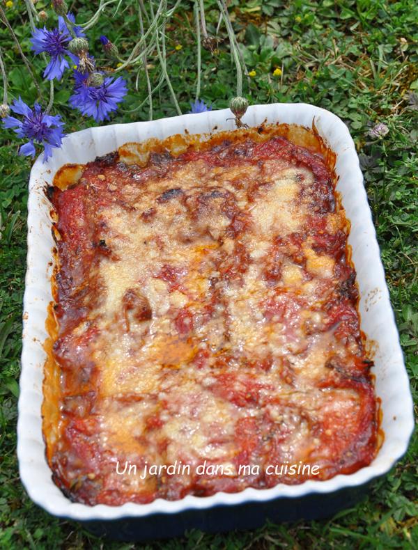 gratin aubergines poivrons au parmesan