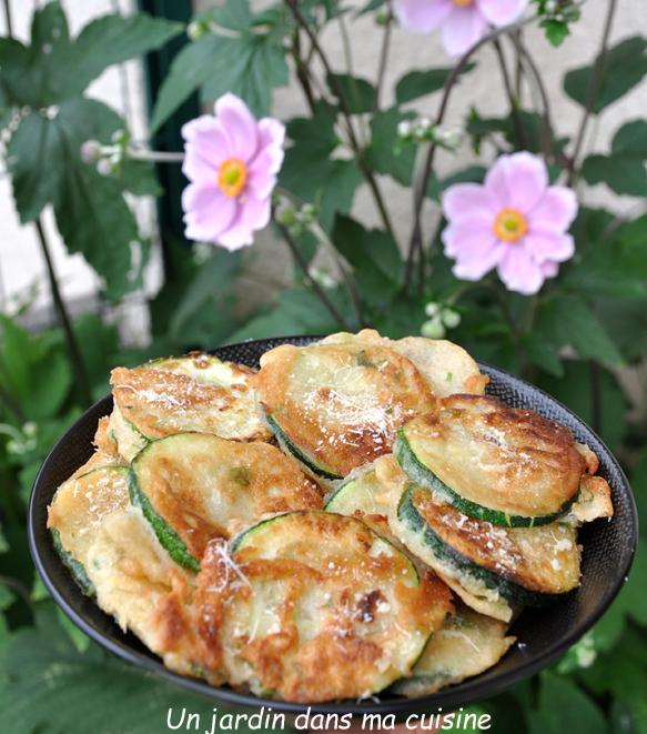 Beignets de courgettes ail et persil