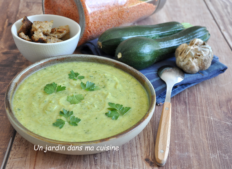 soupe courgettes parmesan